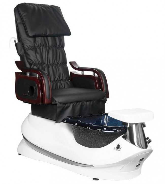 Chaise pédicure SPA avec massage Blanc