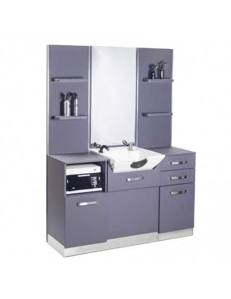 GABBIANO HAIRDRESSING CONSOLE WITH A SINK B085 GRAY