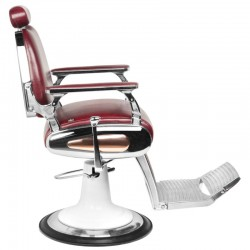 Burgundy motorcycle style barber chair