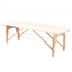 Table de Massage  126964 TABLE DE MASSAGE PLIANTE BOIS CONFORT 2 SECTIONS CRÈME