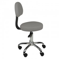 COSMETIC STOOL WITH BACK AM-9934 GRAY