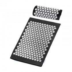 SMALL BASIC BLACK ACUPRESSURE MAT WITH A PILLOW