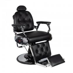 Fauteuil Coiffure Barbier  133508 Chaise barbier FRANCESCO Noir