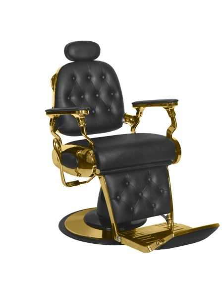 Chaise barbier FRANCESCO OR NOIR