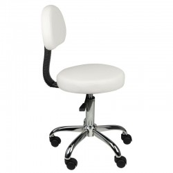 COSMETIC STOOL WITH BACK AM-9934 WHITE