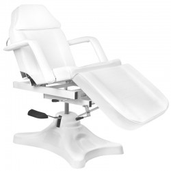 Table de Massage  122352 FAUTEUIL D'ESTHÉTIQUE HYDRAULIQUE BLANC 234D