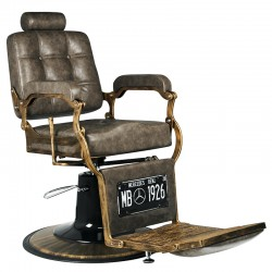 GABBIANO BARBER CHAIR BOSS OLD LEATHER DARK BROWN