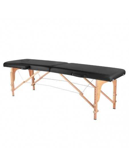 Table de Massage  126967 TABLE DE MASSAGE PLIANTE BOIS CONFORT 2 SECTIONS NOIR