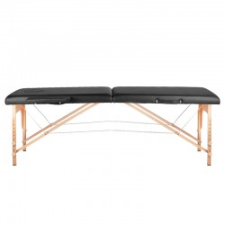 FOLDING TABLE FOR MASSAGE WOOD COMFORT 2 SECTIONS BLACK