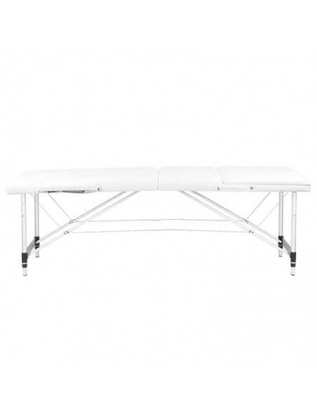 3 SEGMENT WHITE COMFORT ALUMINUM MASSAGE TABLE
