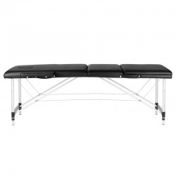 FOLDING TABLE FOR MASSAGE COMFORT ALUMINUM 3 SECTIONS BLACK