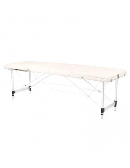 Table de Massage  130790 TABLE DE MASSAGE PLIANTE CONFORT ALUMINIUM 3 SEGMENTS CRÈME