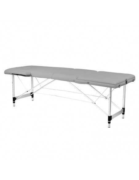 Table de Massage  130791 TABLE PLIANTE POUR MASSAGE CONFORT ALUMINIUM 3 SECTIONS GRIS