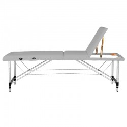 FOLDING TABLE FOR MASSAGE COMFORT ALUMINUM 3 SECTIONS GRAY