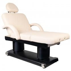 Table de Massage  132035 LIT D'ESTHÉTIQUE SPA CHAUFFANT ÉLECTRIQUE 4 MOTEURS ÉCRU 838A