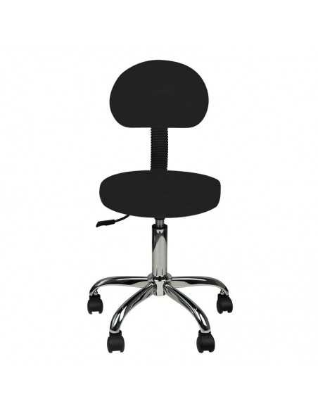 COSMETIC STOOL WITH BACK AM-9934 BLACK
