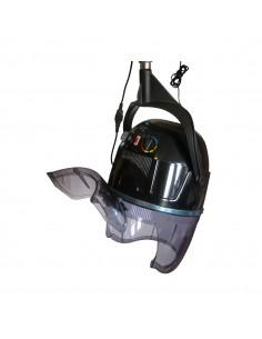 Secador de pelo con casco en brazo negro