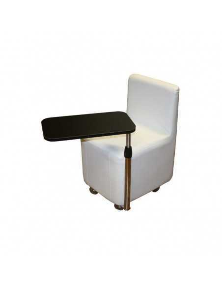 Parisola manicure chair with white shelf and storage