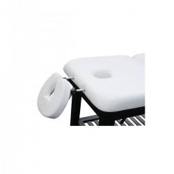 Table massage fixe 2 plans bois couleur wengé
