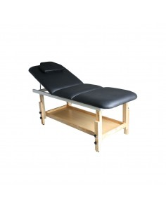 Table de massage fixe bois 3 plans NOIR