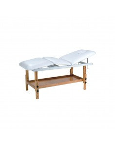Table de massage fixe bois 3 plans BLANC