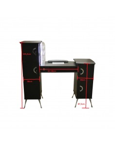 High-end manicure table with LED illuminated vacuum cleaner