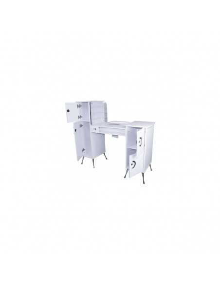 High-end manicure table with LED backlit vacuum cleaner