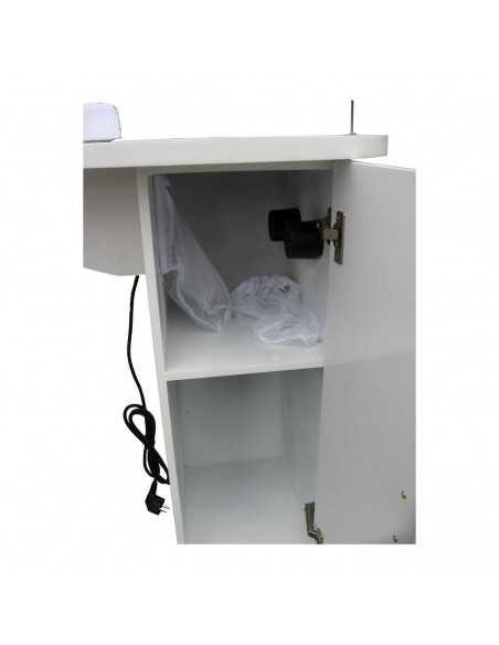 Manicure table with suction filter chamber WHITE