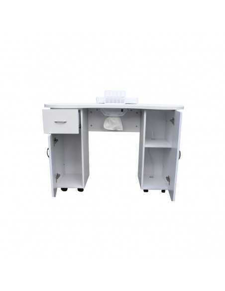 WHITE LAMINATE MANICURE TABLE Exhaust
