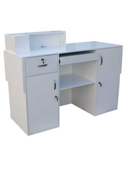 2033 white lacquered store reception counter