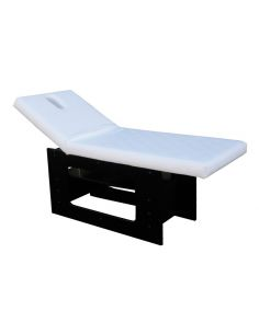 Table massage fixe bois design noir blanc Ischia
