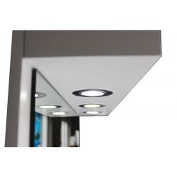 Coiffeuses Miroir  002026 COIFFEUSE Mural lumineux LED Blanc