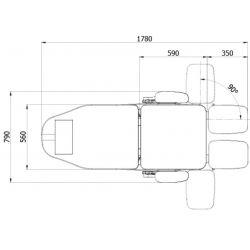 WHITE elektrischer Pedikürestuhl 3 Motoren DENEB