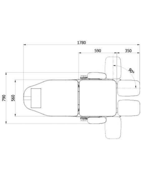 Fauteuil pédicure électrique BLANC 3 moteurs DENEB