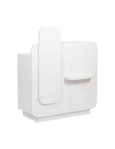 Banque d'accueil  0011561 Blanc Comptoir d'acceuil Reem Blanc