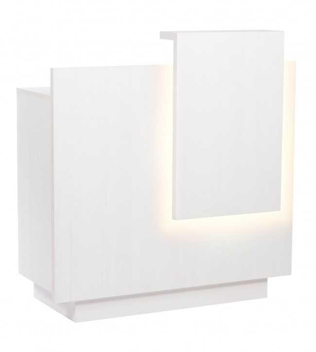 Banque d'accueil  0011591 Blanc Comptoir D'Acceuil Lua Led Blanc