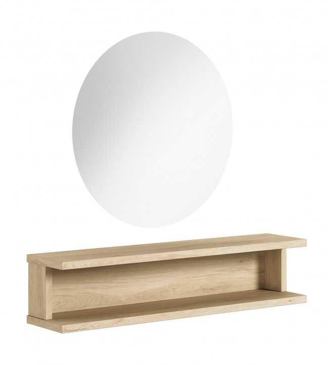 Coiffeuses Miroir  0011581 Coiffeuse de salon de coiffure ELOR Led Bois