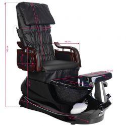 SPA Pediküre Stuhl mit schwarzer Massage