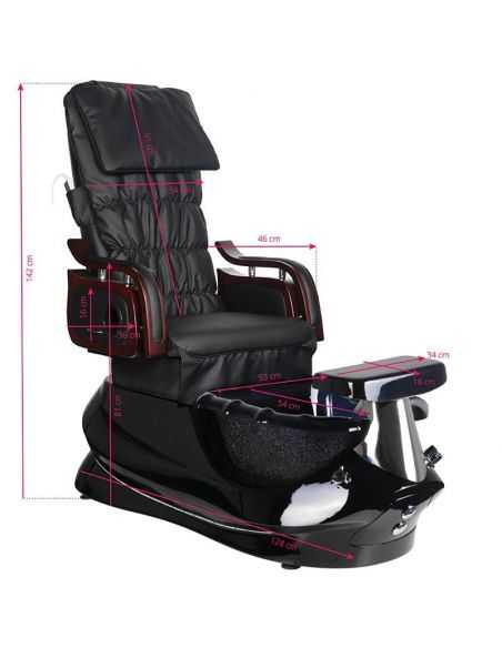 SPA pedicure chair with black massage