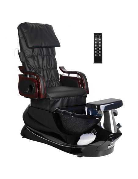 Fauteuil Pédicure Spa Massant  AC- 129535 Chaise pédicure SPA avec massage noir